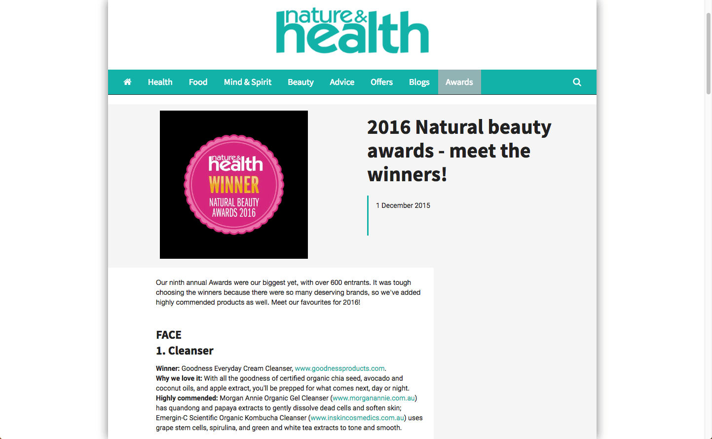 Nature & Health Musq Cosmetics