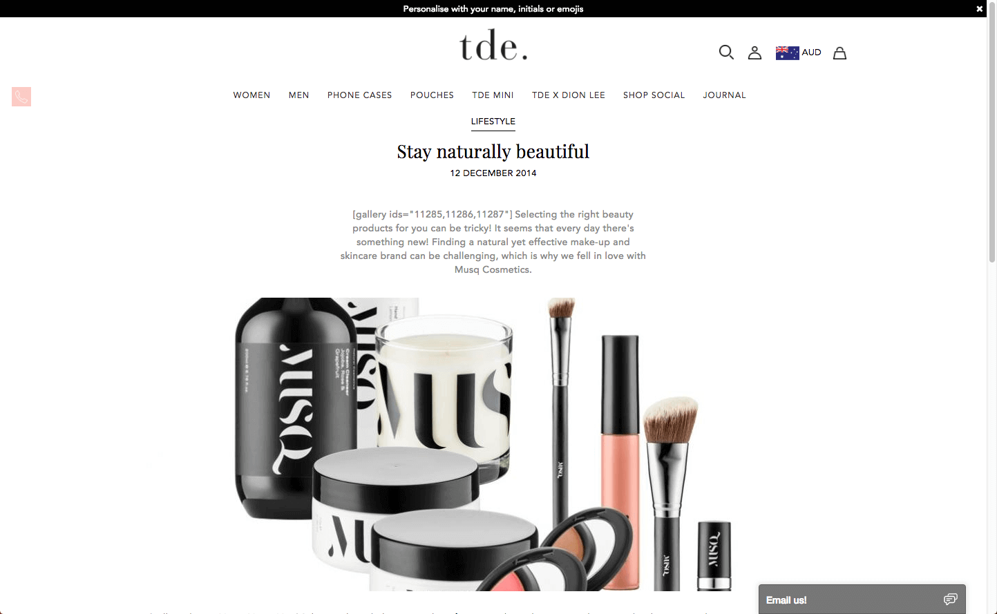 The Daily Edited Musq Cosmetics