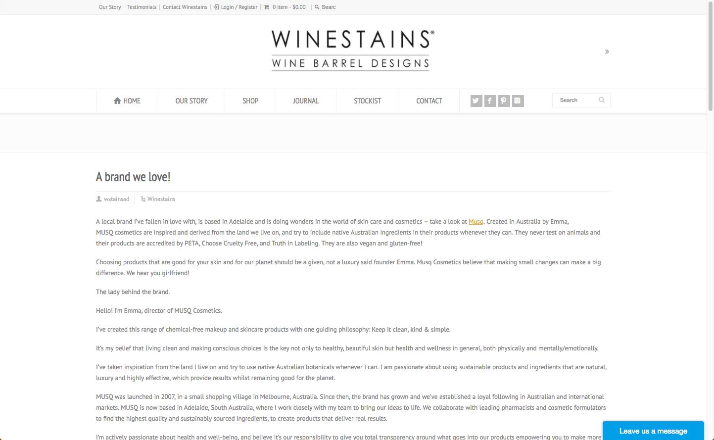 Wine Stains Musq Cosmetics