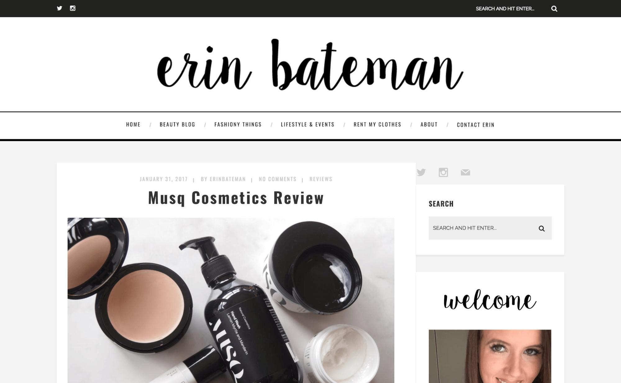 Erin Bateman Musq Cosmetics